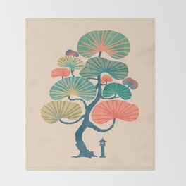 Japan garden Throw Blanket
