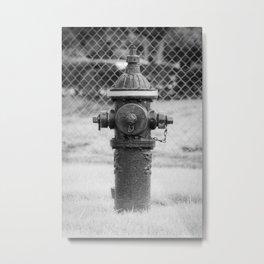 Eddy Valve Company Two Piece Barrel Fire Hydrant Waterford NY Fire Plug Metal Print
