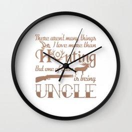 Hunting Uncle Wall Clock