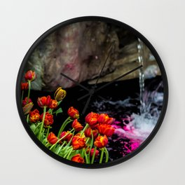 Waterfalls Wall Clock