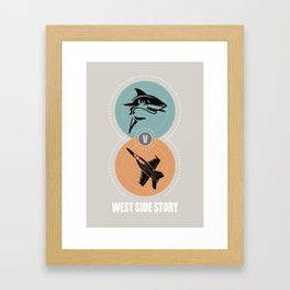 West Side Story - Alternative Movie Poster Framed Art Print