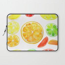 colorful citrus fruit watercolor Laptop Sleeve