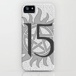 SPN Print (Grey) iPhone Case