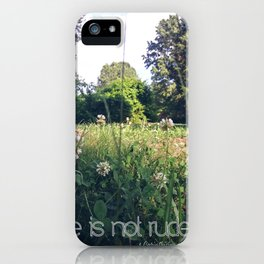 Love is not rude iPhone Case