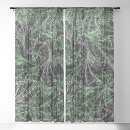 Green Magical Wisps Sheer Curtain