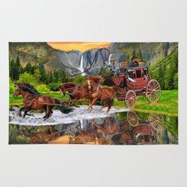 Wells Fargo Stagecoach Rug