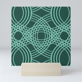 Celtic Knot pattern Forest Mini Art Print