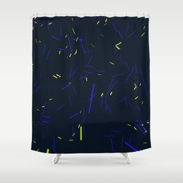 falling particles 02 Shower Curtain