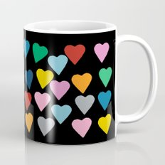 Hearts #3 Black Coffee Mug