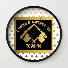 I'd Rather Be Tossing-Color Guard Design Wall Clock