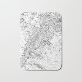 Vintage Map of Jersey City NJ (1967) BW Bath Mat