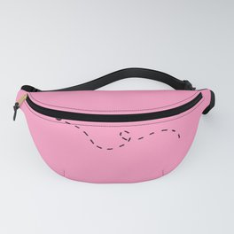 Bees and Squares Fanny Pack