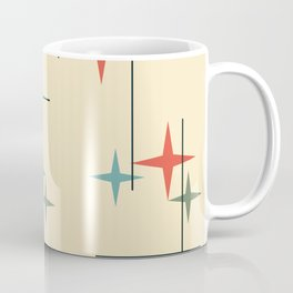 Mid Century Modern Stars Colorful 1 Coffee Mug