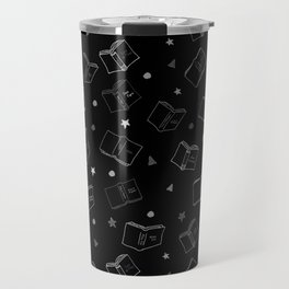 Classic Books Black and White Travel Mug