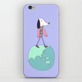 Dog globe iPhone Skin