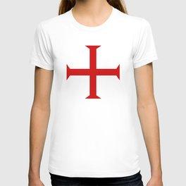 templar knights cross T-shirt
