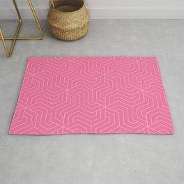 Cyclamen - pink - Modern Vector Seamless Pattern Rug