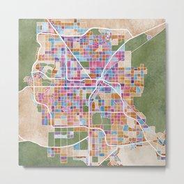 Watercolour Las Vegas Map Metal Print
