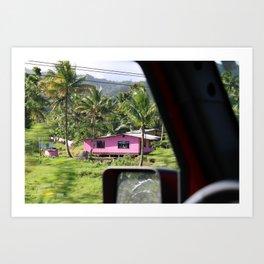 Pink House in Fiji Art Print
