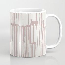 Simply Bamboo Brushstroke Lunar Gray on Clay Pink Coffee Mug