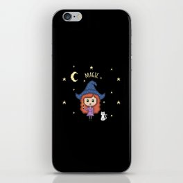 Pixel Witch (Pixel Art/Black) iPhone Skin