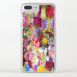 Vibrant Floral Garden Clear iPhone Case