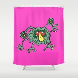 Alien Wiggle Monster - Snot Shower Curtain