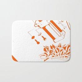 Orange Tech Bath Mat
