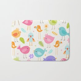 Birds - Off White Bath Mat