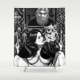 asc 935 - Les psychopompes (Evocation of the spirit of a murdered sybarite) Shower Curtain