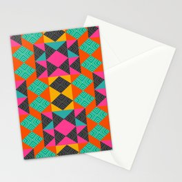 Bright multicolored shapes Stationery Cards