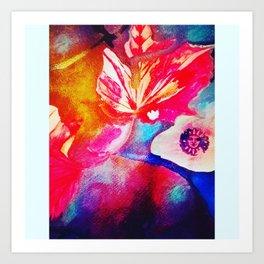 Abstract fall foliage Art Print