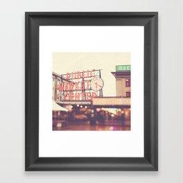 Seattle Pike Place Public Market photograph, 620 Framed Art Print