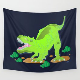 Dino - Bright Wall Tapestry