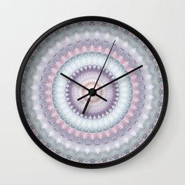 Heirloom Mandala in Pastel Colors Wall Clock
