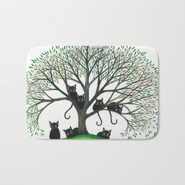 Borders Whimsical Cats in Tree Bath Mat