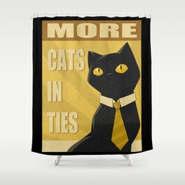 Cats in Ties - PSA Shower Curtain