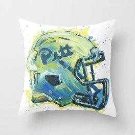 Hail to Pitt Throw Pillow