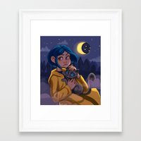 coraline Framed Art Prints featuring Coraline by Corelle_Vairel