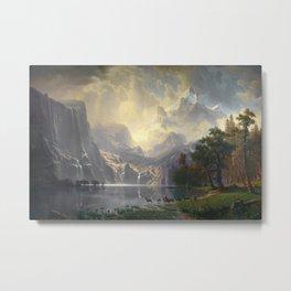 Among the Sierra Nevada California by Albert Bierstadt, 1868 Metal Print
