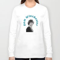 sam winchester Long Sleeve T-shirts featuring Family Business - Sam Winchester by Fandom GoodieZ