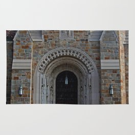 Old West End Our Lady Queen of the Most Holy Rosary Cathedral Door II-vertical Rug