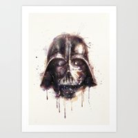 darth vader Art Prints featuring Darth Vader by beart24