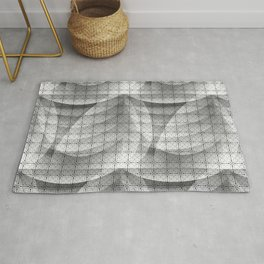 Grey shapes pattern Rug