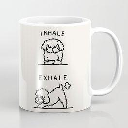Inhale Exhale Toy Poodle Coffee Mug