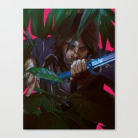 dishonored Canvas Prints featuring you cannot save her by VPUVWV