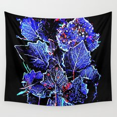 Rime Leaves Abstract Wall Tapestry