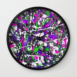 Neon Jungle Wall Clock
