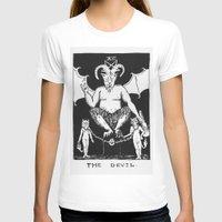 tarot T-shirts featuring Tarot XV by Shaina Stern