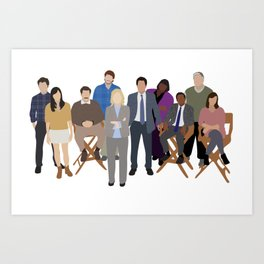 Parks and Recreation Cast Art Print